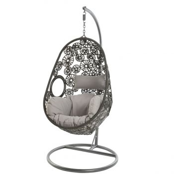 Bahia Garden Hanging Egg Chair in Grey