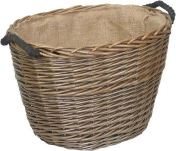 Medium Oval Willow Log Basket