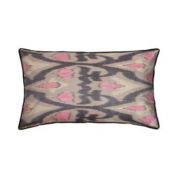 Luxury Rectangle Silk Cushion in Grey