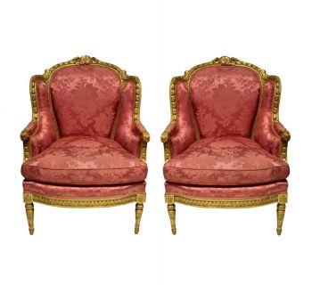 A Fine Pair Of Louis XVI Bergere A Oreilles