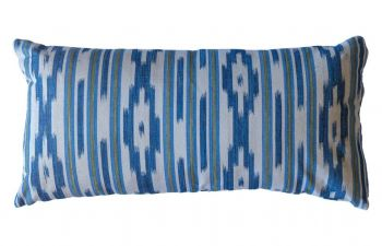 Multi Stripe Indigo Mallorcan Stripe Cushion