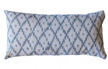 Steel Grey Mallorcan Stripe Cushion