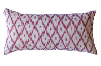 Raspberry Pink Mallorcan Stripe Cushion