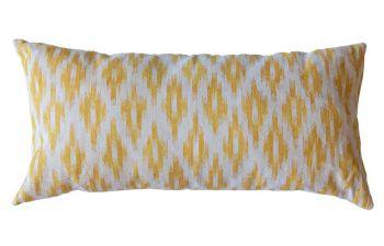 Golden Yellow Mallorcan Stripe Cushion