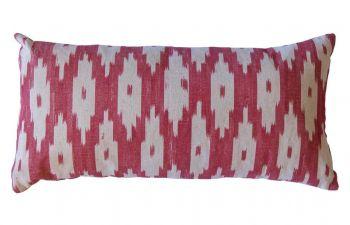 Apple Red Mallorcan Stripe Cushion