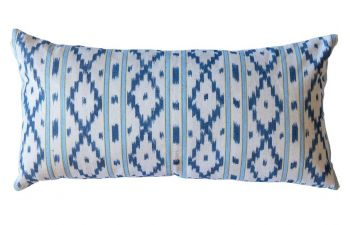 Blue And Yellow Mallorcan Stripe Cushion