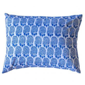 Bumble Blue Block Print Cushion