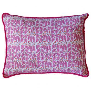 Buta Pink Vine Block Print Cushion