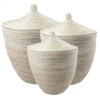 White alibaba laundry baskets