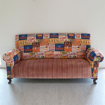 Drop Arm Sofa Antique Main