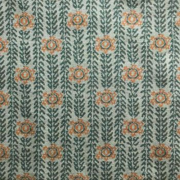 Julia Brendel Ankara Fabric in Green and Orange