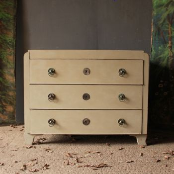 Antique Decorative Painted Pine Chest