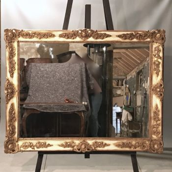 Antique Decorative French 19th Century Gilt Overmantle Mirror