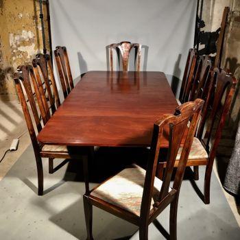 Antique Regency Mahogany 8 Seat Dining Table