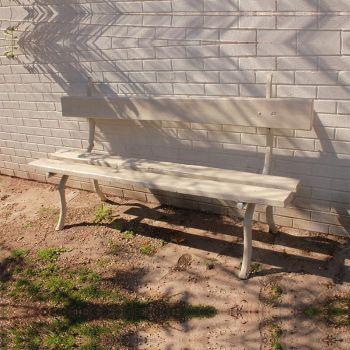 "Antique ""Rustique"" Metal Garden Bench"