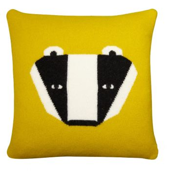 Badger Cushion – Mustard