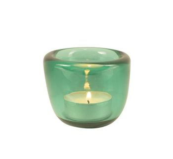 Handmade Tea Light Holders in Turquoise British Colour Standard