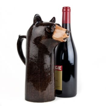 Black Bear Wine Jug Quail Ceramics