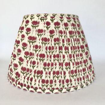 Block Printed Lampshade Indian Fabric Flower Print