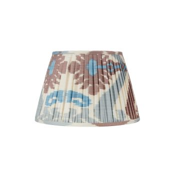 Blue and Terracotta Ikat Lampshade