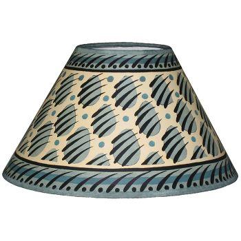 Blue Paw Print Lampshade