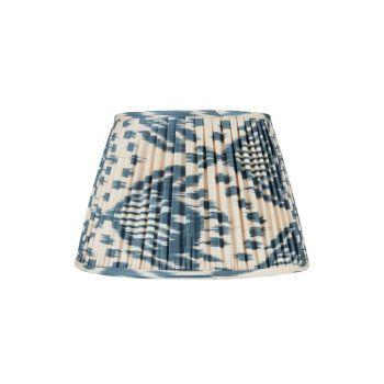 Blue and White Ikat Silk Lampshade Rosana Lonsdale