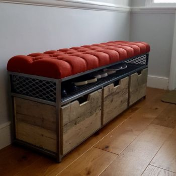 Boxed Frame Storage Bench