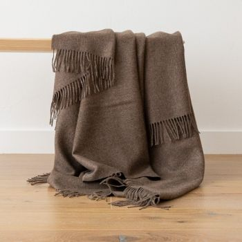 Brown Baby Alpaca Throw