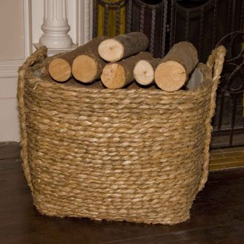 Bullrush Square Log Baskets