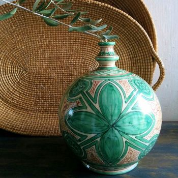 Bummolo Bottle Green Handmade Ceramic Vase