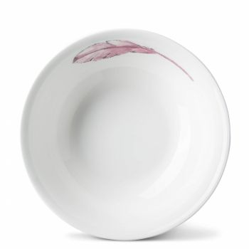 Pink Feathers China Bowl