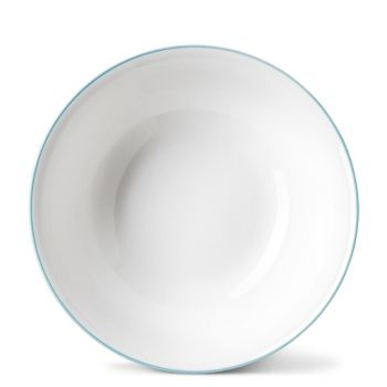Rainbow Dinner Bowl in Aqua