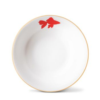 Goldfish Cereal Bowl With Gold Rim