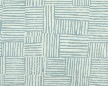 Birdie Fortesque Fabric Mishran Crosshatch Linen - Cerulean, blue and white
