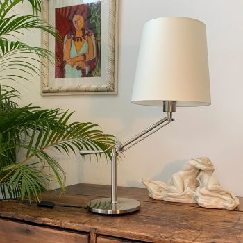 Chelsea Angle Table Lamp in Brushed Nickel