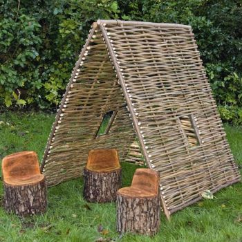 Children's Garden Wicker Hazel Playhouse