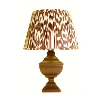 Melodi Horne Ikat chocolate brown linen lampshade