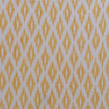 Golden Yellow Designer Chevron Fabric