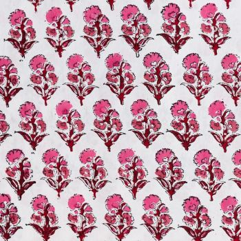 Beautiful Designer Carnation Cotton Fabric