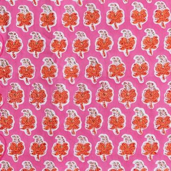 Spice Fabric in Pink & Orange