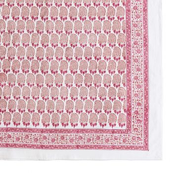 Bumble Tablecloth in Red & Pink