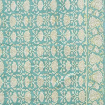 Lotus Jal Tablecloth in Aqua
