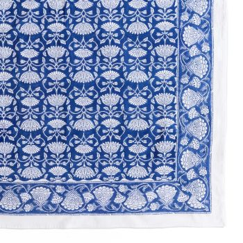 Lotus Jal Tablecloth in Blue