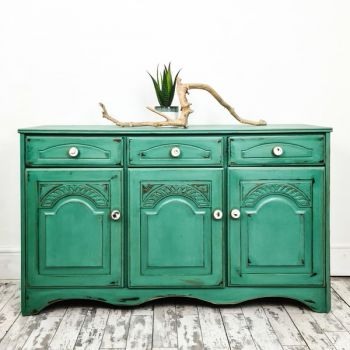 Coastal Green Sideboard Distressed Chalk Paint