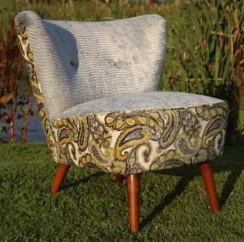 Vintage Cocktail Chair in Paisley