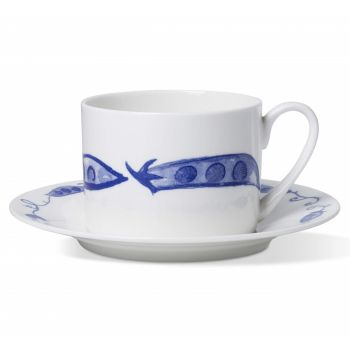 Pea Pod Coffee Cup & Saucer