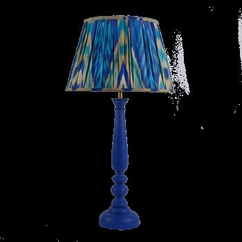 Melodi Horne cobalt blue ikat lampshade