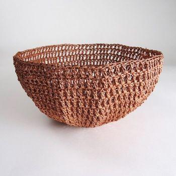 Copper Crochet Basket