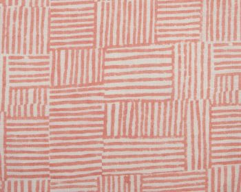 Birdie Fortesque Fabric Mishran Crosshatch Linen - Coral Pink