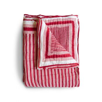 Stripe Quilt in Red